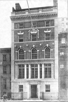 In 1905 The Lambs erected it's own clubhouse at 130 W Street, Designed by Stanford White. Stanford White, Clubhouses, Rhythm And Blues, Lambs, Past, Multi Story Building, Nyc, America, Street