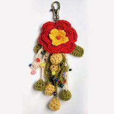 Patrones Crochet: 2 Llaveros de Crochet de Flores
