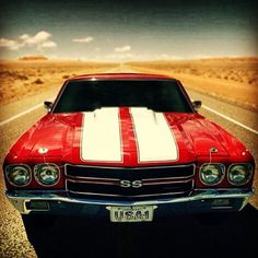 #ChevelleSS #musclecars #americanmuscle #classic #red #white #racingstripes
