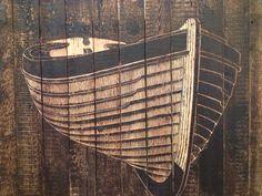 James Dodds @firstsite - boat, lino cut, wood, art