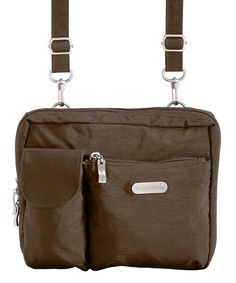Look at this baggallini Mushroom Large Wallet Crossbody Bag on #zulily today!