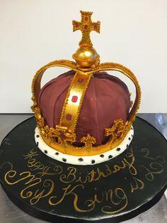 Fondant gold king crown Crown cakes Pinterest Kings crown