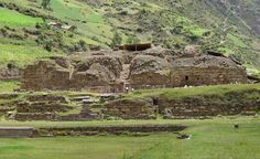 Chavin de Huantar Historical Facts and Pictures | The History Hub. My Note: A long view of the remote, amazing complex of Chavin de Huantar, with part of the sunken structure in the foreground.