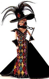 Masquerade ball Barbie.