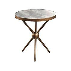 "Sylvette 24"" Wide Walnut Modern Round End Table"