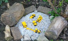 Construction site gravel pit for kids