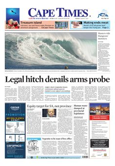 News making headlines: Legal hitch derails arms probe