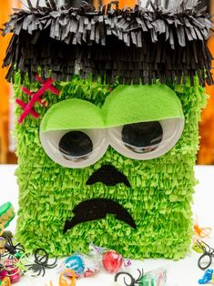 Your Halloween party will be the best on the block with these fun DIY piñata ideas by Jennifer Perkins Halloween Door Decorations, Halloween Home Decor, Halloween Crafts, Holiday Crafts, Homemade Halloween, Halloween Activities, Creepy Halloween, Vintage Halloween, Fall Halloween