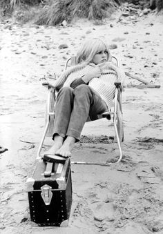 Brigitte Bardot at the beach