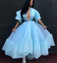 by Dona Matoshi. Shop for beautiful Gowns at Dona Matoshi. Discover a fabulous selection of dresses. Organza Dress, Ball Gown Dresses, Event Dresses, Prom Dresses, Silk Organza, Wedding Dresses, Blue Dress Outfits, Pretty Outfits, Pretty Dresses