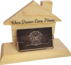 House Shape Business Card Holder - The perfect way to display your business cards at your desk, at an open house, or wherever you like to display your real estate business cards.