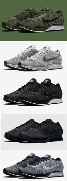Nike Flyknit Racer Smoke Gray,Olive Green,Cowboy Blue,Black Grey shoes #nike #Flyknit #Racer #nikeRacer #Smoke #Gray #olive