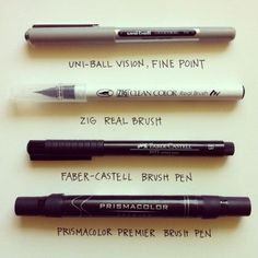 pens to use with watercolor