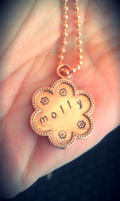 Hand stamped pendant using Beaducation's new Artisan Series blanks.
