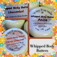 www.TheHoneyBSoapCompany.com Whipped Body Butter, Shea Butter, Soap Company, Be Natural, Body Care, Honey, Food, Meal, Eten