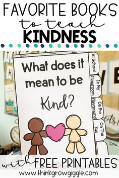 Teachers, grab these free kindness activities to use in your upper elementary classroom that align with 9 of my favorite picture books to teach kindness to kids. Read this quick blog post to learn about these picture books about kindness that are perfect to read again and again with your students. Lesson ideas, printables, and kindness flipbook are free resources for you to use with your students throughout the school year. Click to read today!