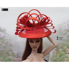 Chapeau Barbie capeline, casquette Fashion Royalty Silkstone Poppy Parker handmade by Accessoires Barbie, Poppy Parker, Poppies, Royalty, Crochet Hats, Handmade, Diy, Fashion, Barbie Dolls