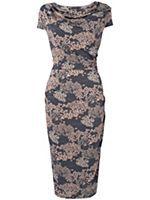 Pagoda print dress