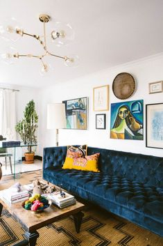 rich color and texture in the living room