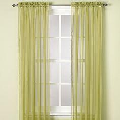 Elegance Sheer Rod Pocket 63-Inch Window Curtain Panel in Citrus