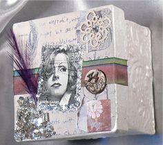Jewelry Gift Box - Vintage Design - Greta Garbo Image - Embellished Gift Box - For Christmas - Holidays - Wedding Gift Box - Home Decor
