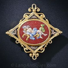 Antique Micro-Mosaic Brooch - 50-1-4526 - Lang Antiques