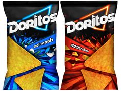 Doritos logo & Packaging design exploration by Safari Sundays , via Behance
