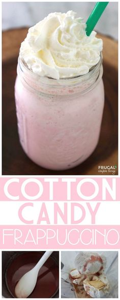 Amazing Cotton Candy Frappuccino Recipe, a Starbucks Copycat Recipe on Frugal Coupon Living.