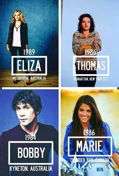 Eliza Taylor (Clarke Griffin), Tom McDonell (Finn Collins), Bob Morley (Bellamy Blake) and Marie Avgeropoulos (Octavia Blake) II The 100 cast: