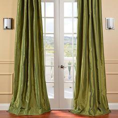 Half Price Drapes Faux Solid Taffeta Single Curtain Panel & Reviews | Wayfair