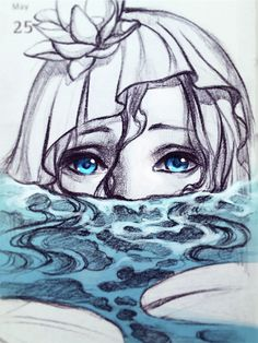 Mermaid in the pond by Qinni.deviantart.com on @DeviantArt