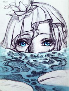 Menina submersa