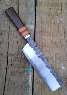 New to this forum and a Japanese style kitchenknife - Handmade & Custom Knives - Edge Matters Discussion Forum by Hercio Dias Cool Knives, Knives And Tools, Knives And Swords, Japanese Cooking Knives, Japanese Kitchen Knives, Leather Pearl Necklace, Forged Knife, Best Pocket Knife, Handmade Knives
