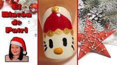 Diseño de uñas Hello Kitty de Navidad de El rincón de Patri Nail Art. Sigue todos nuestros diseños de decoración de uñas en http://www.rincondepatri.com Christmas Hello Kitty Nail Art