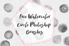 DLOLLEYS HELP: Free Watercolor Circle Photoshop Brushes