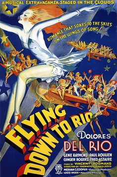 Not a horror film, of course, but a one-sheet for the Fred Astaire-Ginger Rogers dance film Flying Down to Rio from 1933, which fetched $239,000 in 2008. Fun and exuberant, it looks like a 1930s air-voyage ad as much as anything else