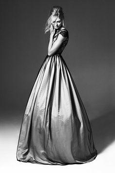 Elegance - lace, silk & tulle dress; b&w photography