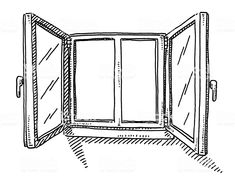 Open Window Drawing royalty-free open window drawing stock vector art & more images of air duct window ideas Hand-drawn vector drawing of an Open Window. Black-and-White sketch. Open Window, Window Art, Window Ideas, Window Sketch, Window Drawings, Line Drawing, Drawing Sketches, Wild Animals Drawing, Perspective Drawing Lessons