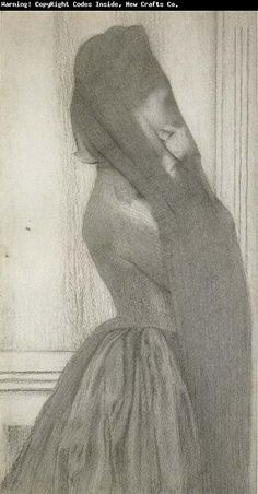 The Veil  Fernand Knopff, 1887
