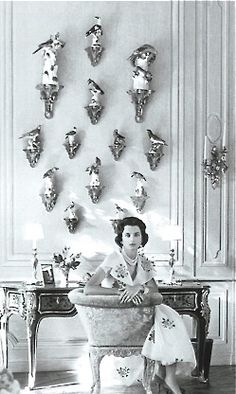 Jane Wrightsman at Palm Beach Home