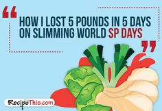 Slimming World | How I Lost 5 Pounds On Slimming World in 5 days brought to you by RecipeThis.com