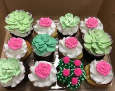 Succulent Cupcakes, Custom Cupcakes, Cupcake Toppers, Sweet Treats, Desserts, Food, Personalised Cupcakes, Tailgate Desserts, Sweets
