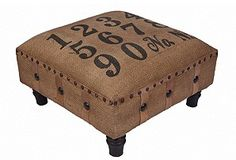 jute stool.. LOVE this!! thinking one for mama and one for papa... and yes it will have my name on it!