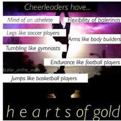 Cheerleading....The instructions for my life!!