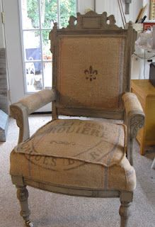 Amazing French Grain Sack Chair Reupholstery Tutorial