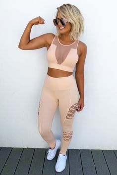 Share to save 10% on your order instantly! Stay Strong Sports Bra: Peachy Nude