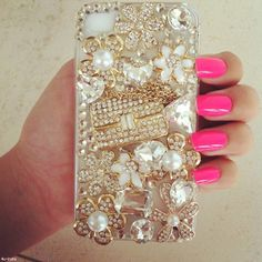 Gold blingy iPhone case