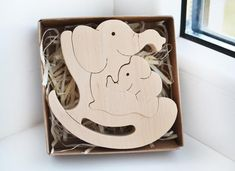 Mother's day gift Wooden Puzzle elephant Wooden Swing toy Kids gifts Animal puzzle elephant Family W Easter Gifts For Kids, Christmas Gifts For Kids, Kids Gifts, Elephant Family, Small Elephant, Wooden Elephant, Elephant Gifts, Tier Puzzle, Gifts For Expecting Parents