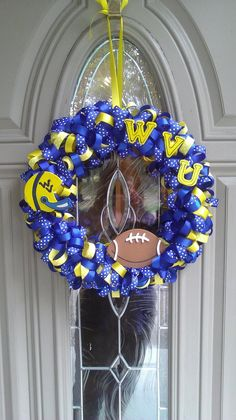 WVU Ribbon Wreath ♥