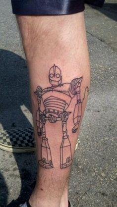 Iron Giant robot tattoo